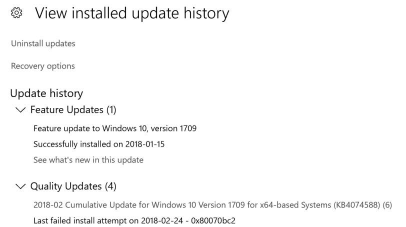 0x80070bc2 error windows update