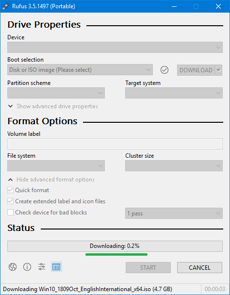 download windows 10 iso using rufus