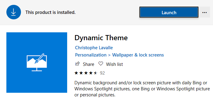 spotlight image as desktop wallpaper - bing images - dynamic theme