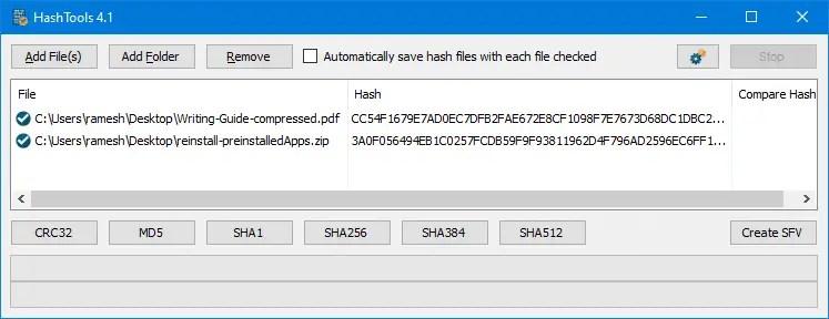 get file hash via the right-click menu - hashtools