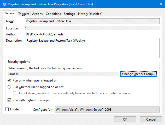 completely backup windows 10 registry - registry backup and restore utility - task scheduler