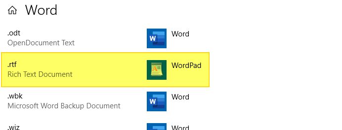 word not the default editor message startup