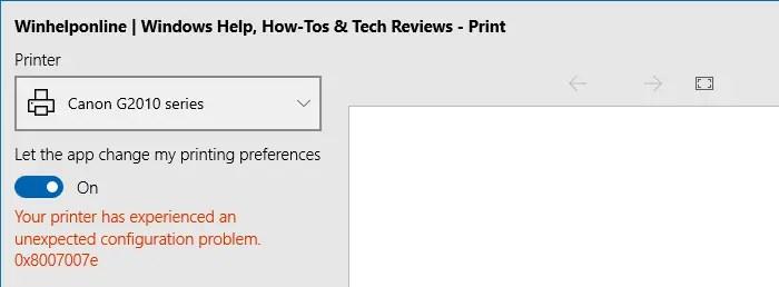 printer error edge 0x8007007e printconfig.dll