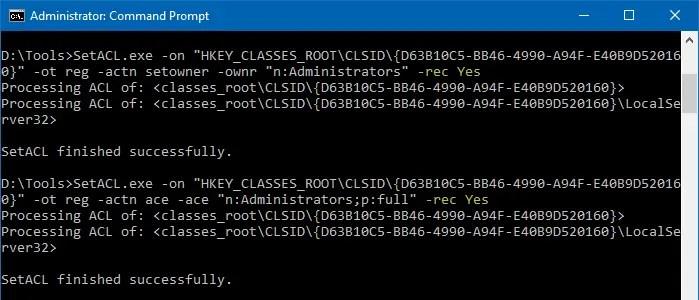 take ownership registry command-line - setacl trustedinstaller