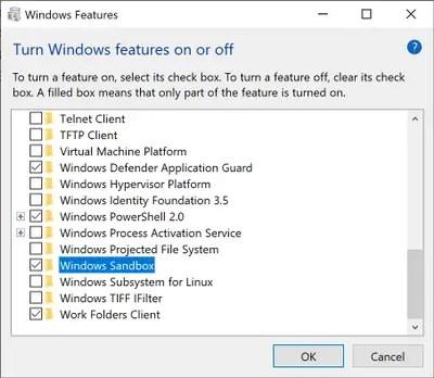 what is PortableBaseLayer in disk management - windows sandbox