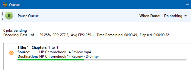 resize or change resolution of videos in windows - handbrake