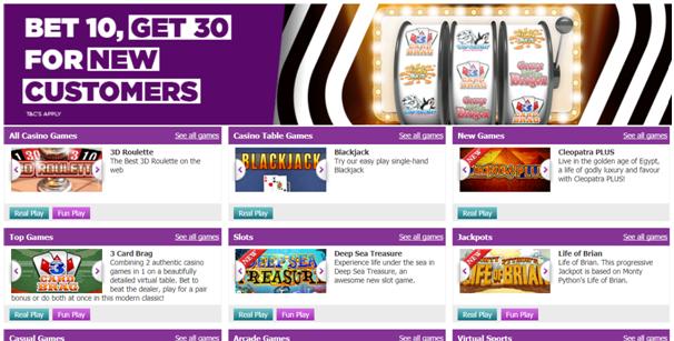 Betdaq- Casino