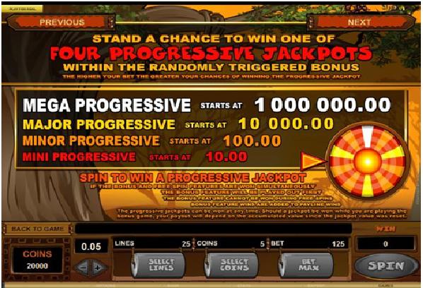 Mega Moolah Jackpot Prize