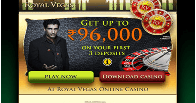 Royal Vegas Casino- Accepts Indian players