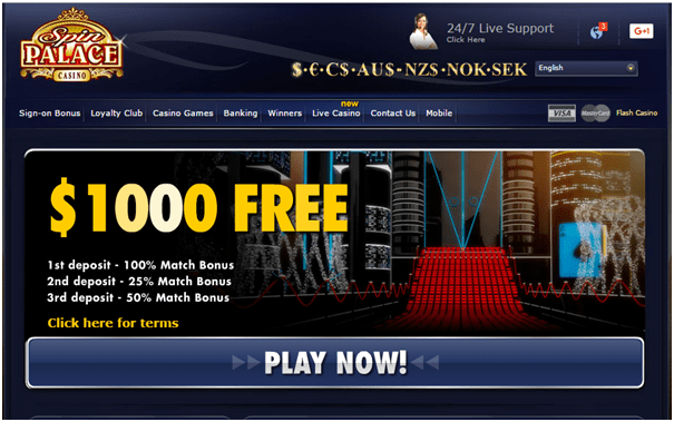 Spin Palace Casino Review - Casino.com India