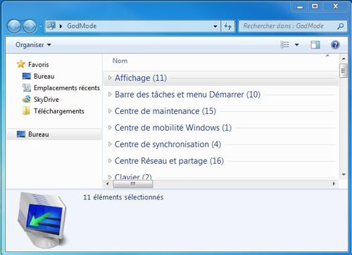 God Mode de Windows 7