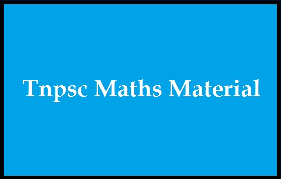 Tnpsc Maths Material