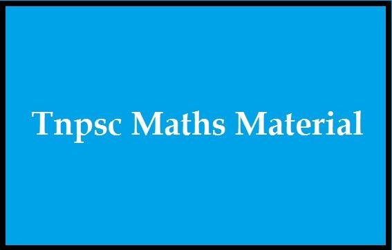 Tnpsc Maths Material