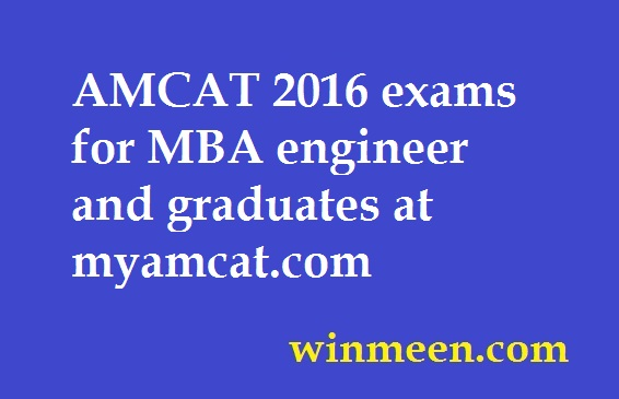 AMCAT 2016 exams for MBA engineer and graduates