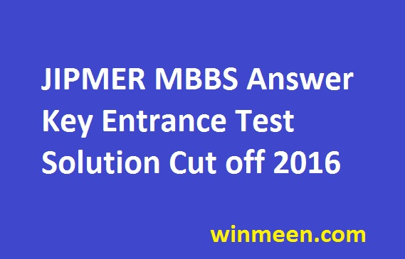 Jipmer Entrance Exam Question Papers With Answers Pdf