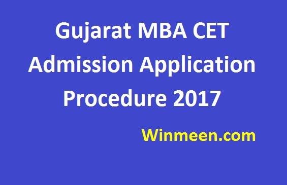 Gujarat MBA CET Admission Application Procedure 2017