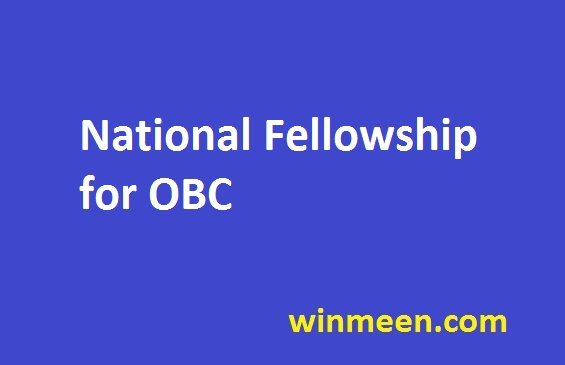 National Fellowship for OBC