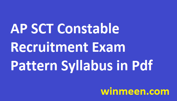 AP Police Constable Recruitment Pattern Exam Dates Detailed SLPRB Syllabus PET PMT Details 2016