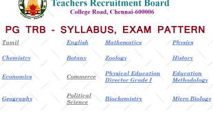 Tamilnadu Pg Trb Syllabus Exam Pattern 2017