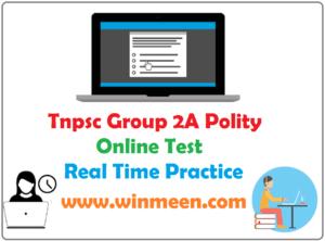 Tnpsc Group 2A Polity Online Mock Test 4
