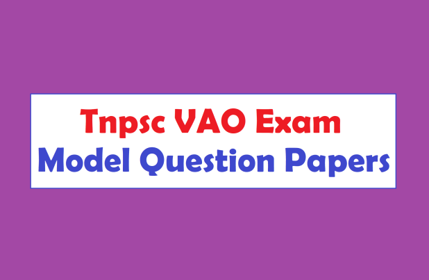Tnpsc VAO Exam Model Question Papers Pdf Download