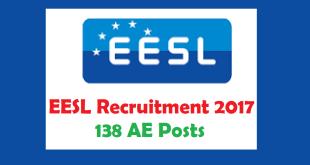 EESL Recruitment 2017 138 AE Posts