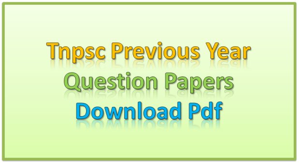 Tnpsc Previous Year Question Papers Download Pdf