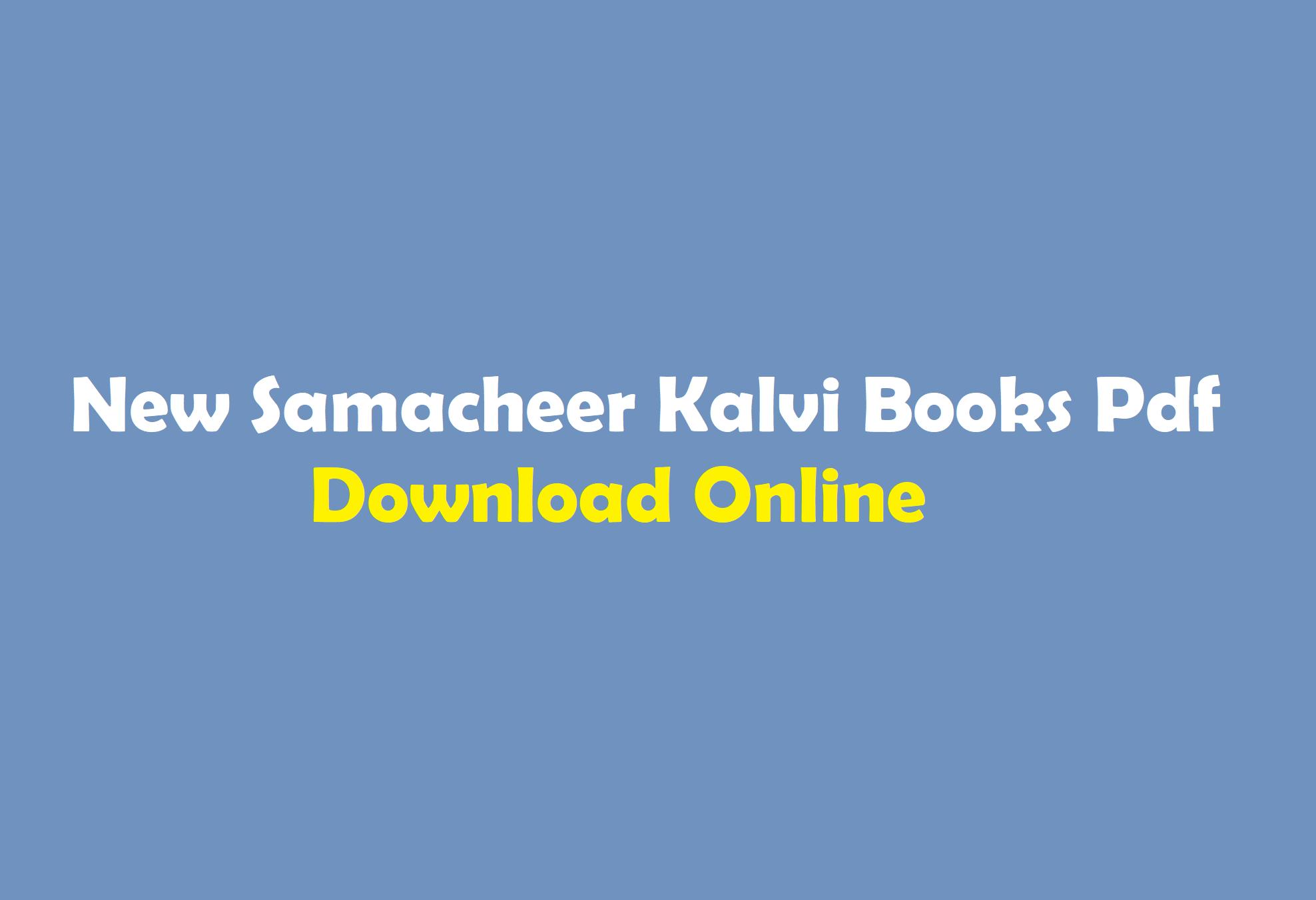 Tamilnadu State Board School Books Pdf