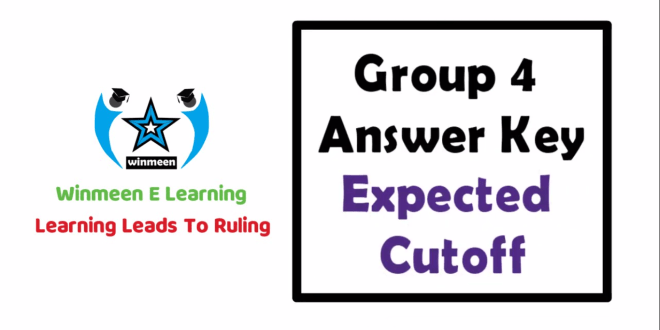 Tnpsc Group 4 Answer Key 2019 Exam Question Paper Updated