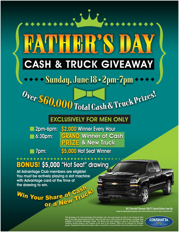 Cash and Truck Giveaway
