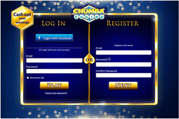 Chumba Casino- Register to play