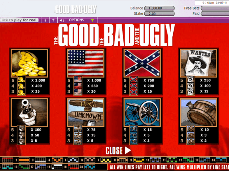 Free The Good The Bad and The Ugly Slot