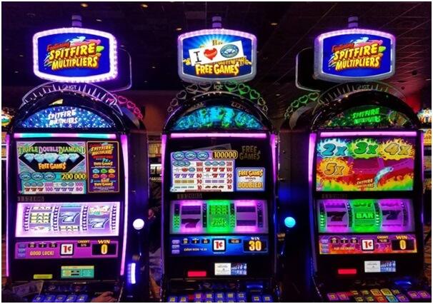 Slot machines at casinos