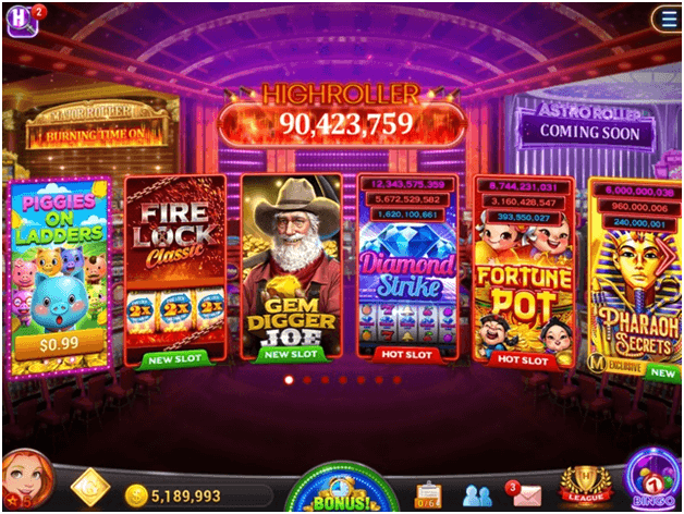 High Roller Vegas casino Slot App features