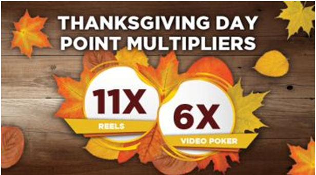 Thanksgiving Point Multipliers at various casinos