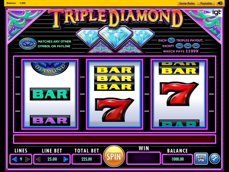 Triple Diamond - SLOT GAME
