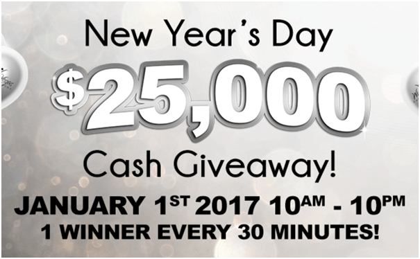 $25000 Cash Give Away at WinnaVegas Casino