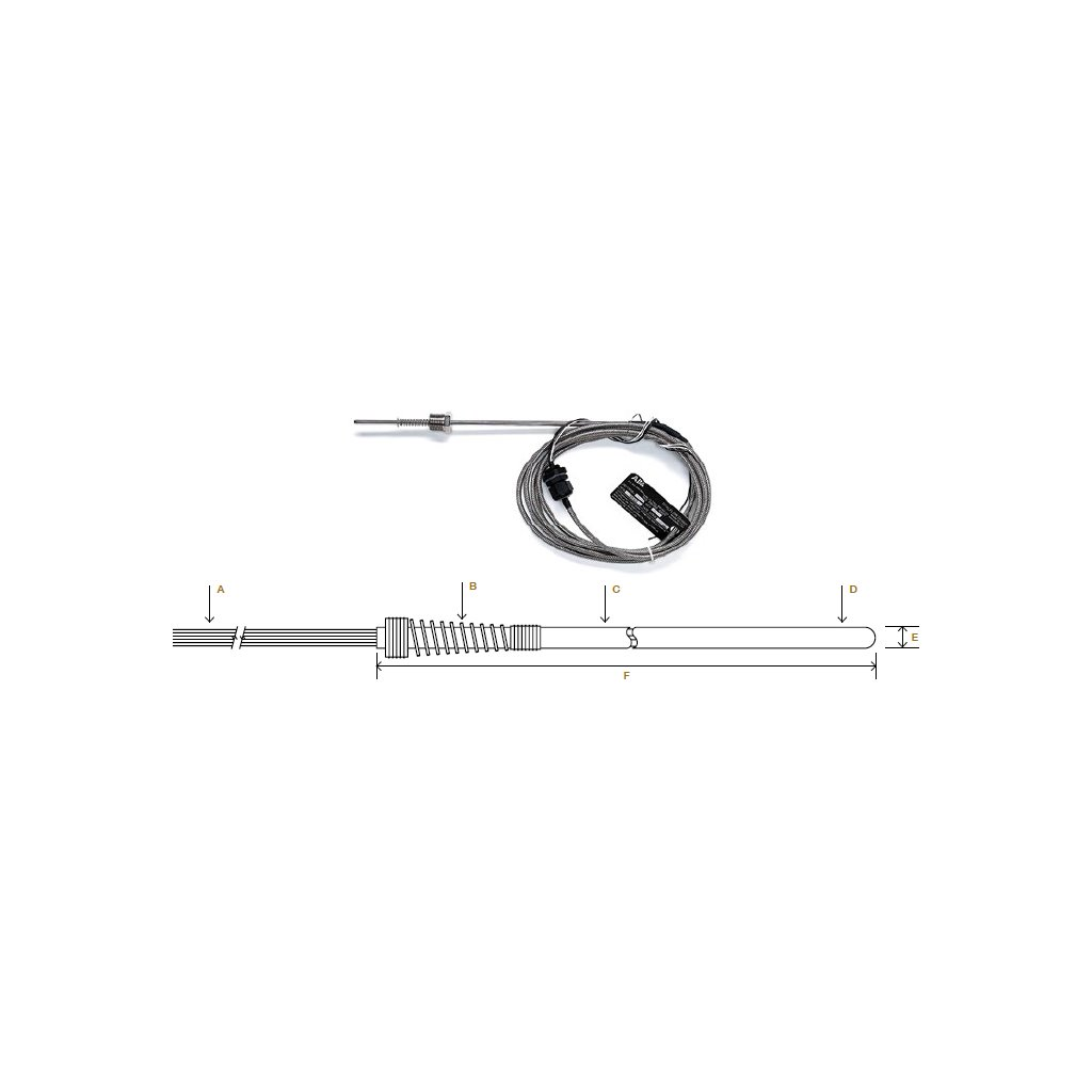 hight resolution of abb 2011905 026 rtd probe assembly 10 ft ss braided