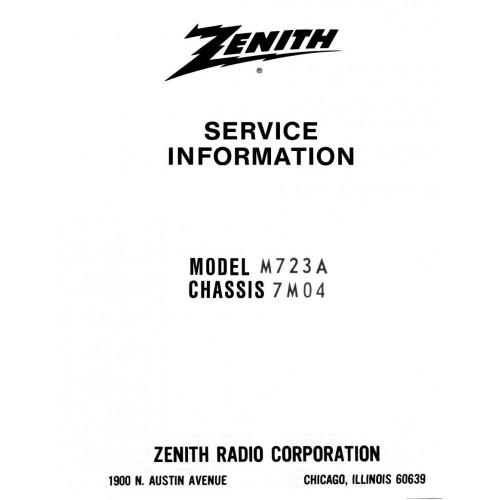Zenith Tube AM/FM radio Service Manual for M723A,C,W