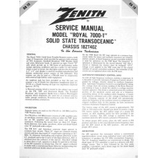 Zenith Radio Transoceanic shortwave service manual RA-19