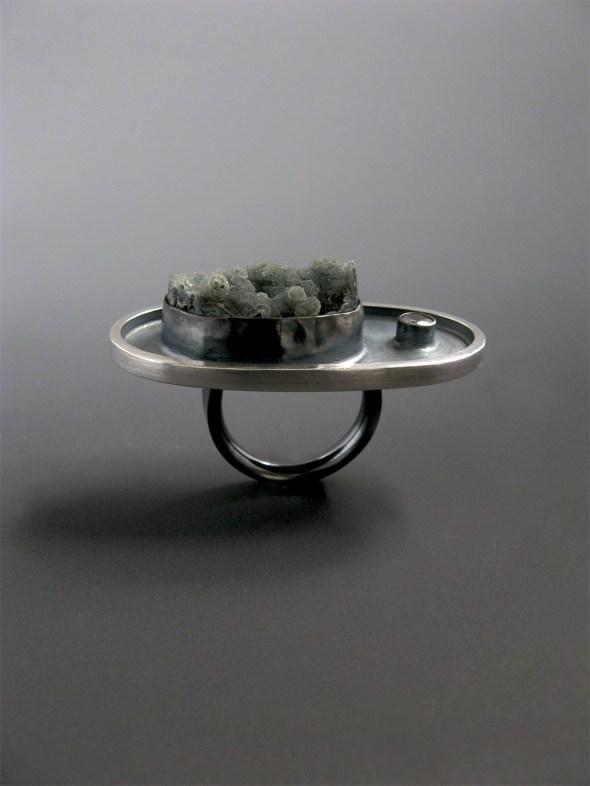 Smoke Druzy Ring