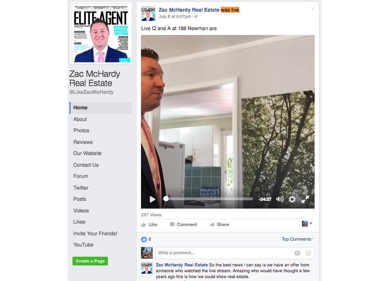 Facebook Live, Zac McHardy