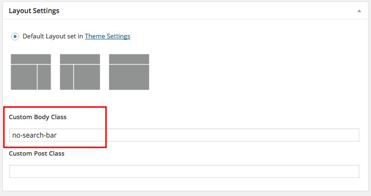 genesis layout settings - add body class
