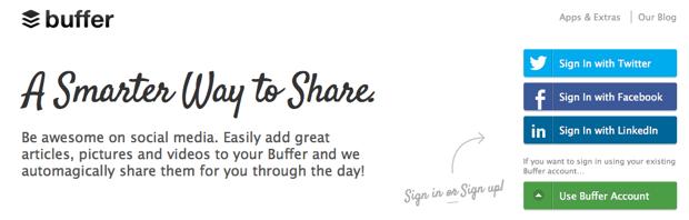 """Buffer App- """"A Smarter Way to Share"""""""
