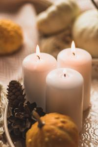 Candles and fall decor
