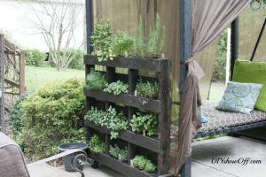 DIY privacy wall planter