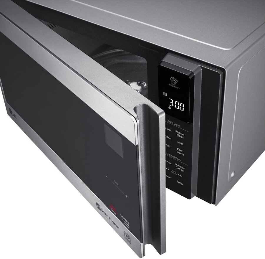 lg 25l neochef smart inverter microwave oven 1000w ms2596os