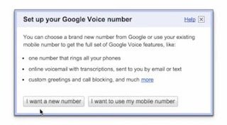 set up a google voice number