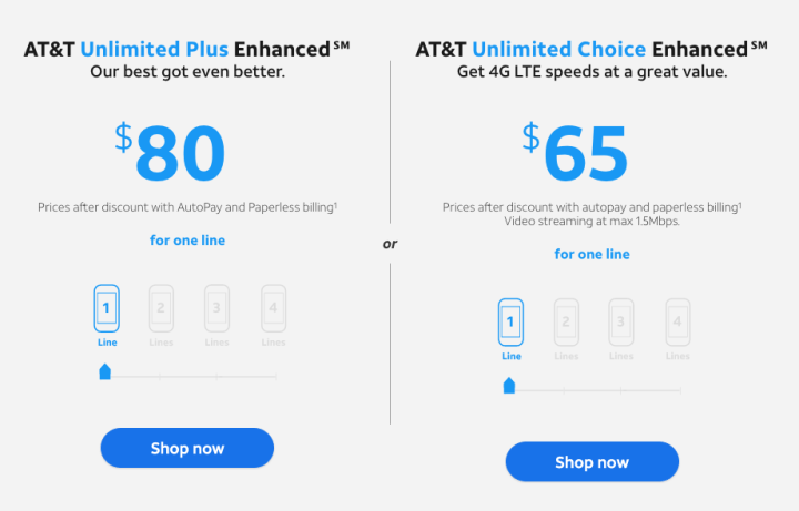 at&t unlimited plans