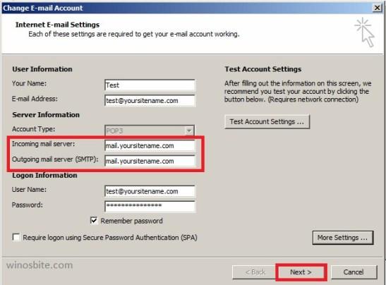 изменить внешний вид учетной записи электронной почты
